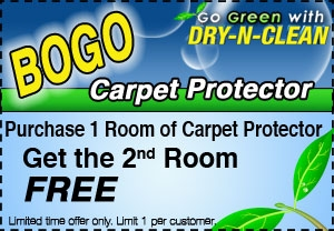 Purchase 1 Room of Carpet Protector, Get 2nd Room Free