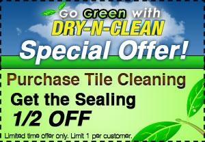 Purchase Tile Cleaning, Get the Sealing 1/2 Off